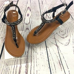 Beverly Hills Polo Club Beaded Sandals